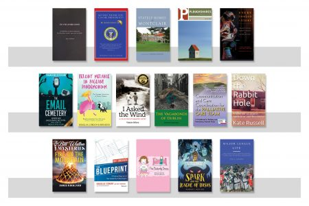 Sixteen book covers of books by Emerson authors for Fall 2020