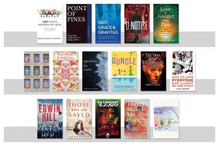 Sixteen book covers from Emerson authors for Spring 2021