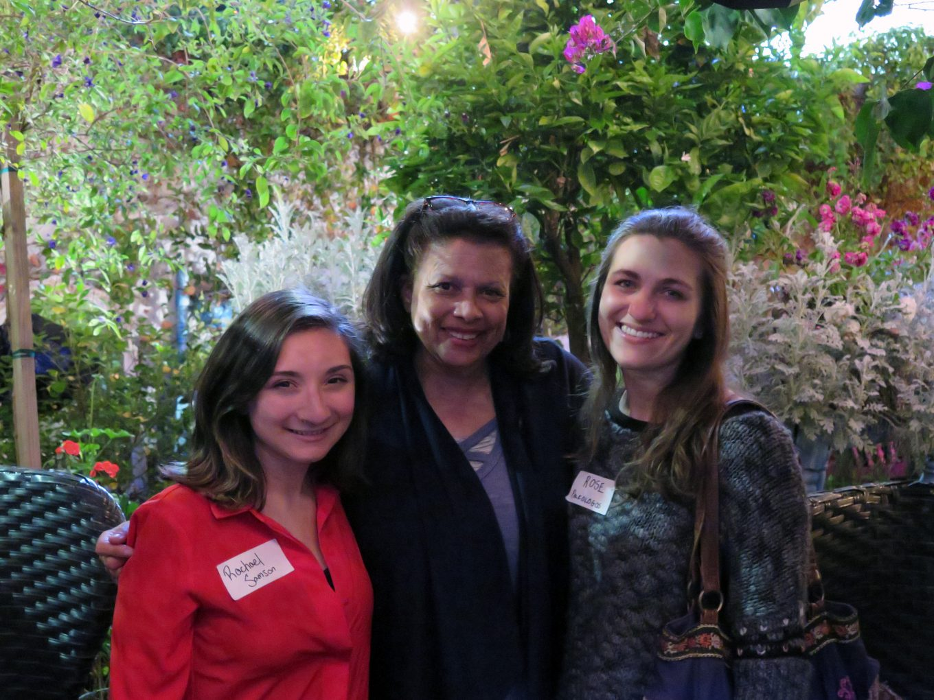 Nanci Isaacs '79 posing with two other alumnae